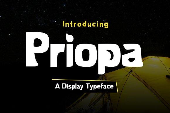Priopa Typeface