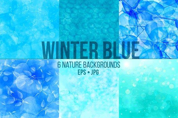 Winter blue vector textures