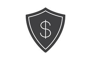 Money security glyph icon