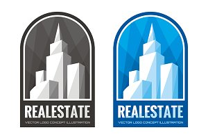 Real Estate Vector Logo Sign