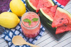 watermelon smoothies beverage