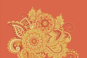 Flower Pattern Bright Abstract wallpaper vintage