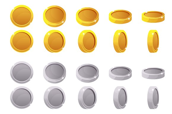Set Animation Game Rotation Coins