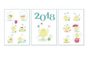 Year of the Rooster calendar pack