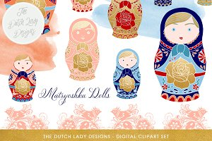 Russian Matryoshka Doll Clipart