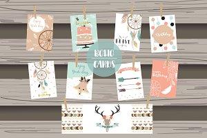 8 cute lovely design boho cards4#