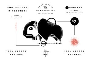 The Duo Brush Set for Illustrator