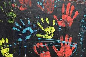 Messy Handprints Paint