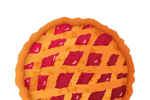 Bright colorful pie icon