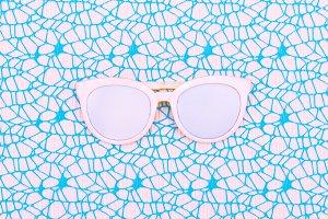 White Glasses. Minimal art