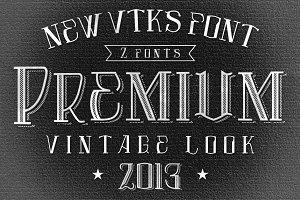 Premium font by VTKS + 4 arts