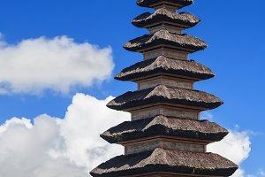 Balinese pagodas Meru