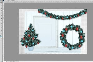 Christmas Decoration Mockup PSD