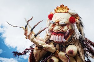 Traditional Balinese demon ooh-ogoh