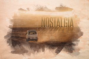 Nostalgia - Old Watercolor Overlays