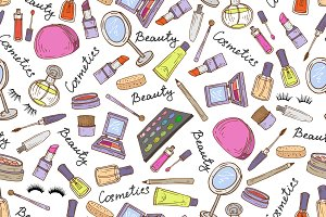 Pattern with attributes of cosmetics
