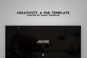 Creativity, a PSD template.