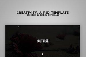 Creativity, a PSD template.