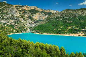 St Croix lake in Provence, France