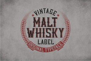 Malt Whiskey Vintage Label Typeface