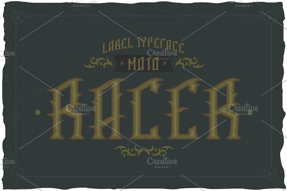 Racer Label Typeface