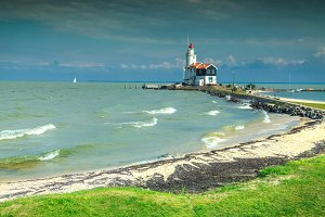 Wonderful lighthouse in Marken