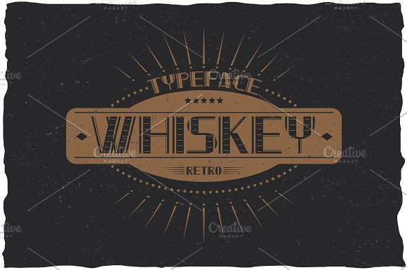 Whiskey Vintage Label Typeface