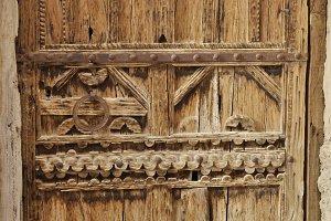 Hand crafted wooden berber door