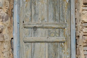 Blue wooden berber door