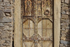 Old wooden carved berber door