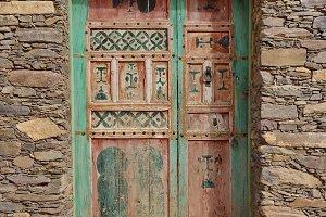 Berber style wooden door