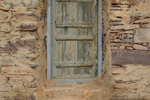 Blue wooden berber door
