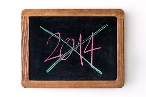 Year 2014 ended and crossed out