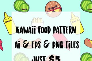 Kawaii Food Pattern- AI