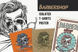 Barbershop T-shirts Labels