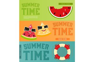 Summer Time  Banners Set