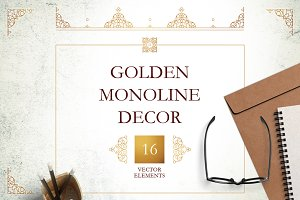 1. Set Of Vector Monoline Decor