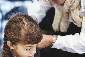 Woman doing braids