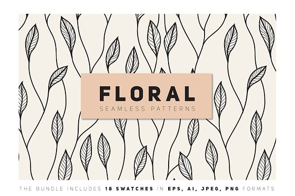 Floral Seamless Patterns Bundle