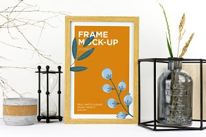Natural Wood Frame Mockup