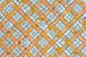 Intersecting Check Grunge Geometric Seamless Pattern