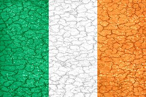 Ireland Grunge Style National Flag