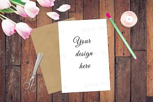 Invitation Card Mock Up Photography