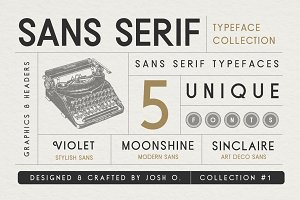 Sans Serif Typeface Collection