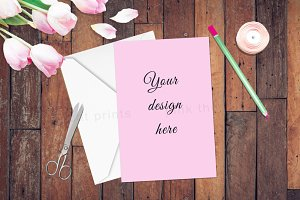 Card Invitation Mock Up Photography