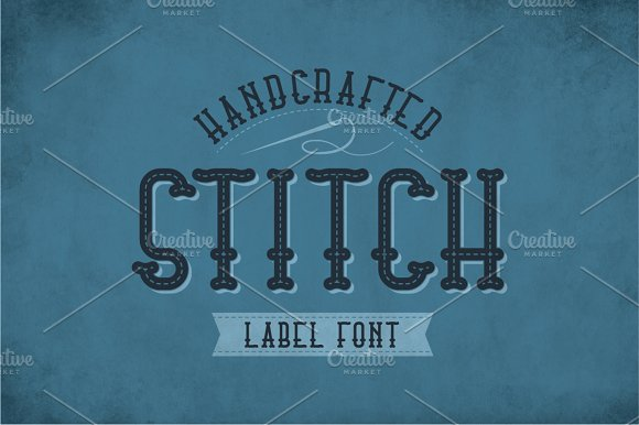 Stitch Vintage Label Typeface