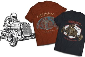 Vintage Cars T-shirts Labels