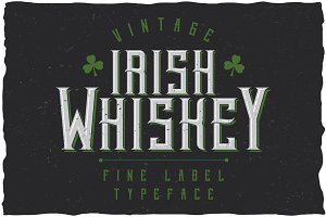 Irish Whiskey Vintage Label Typeface