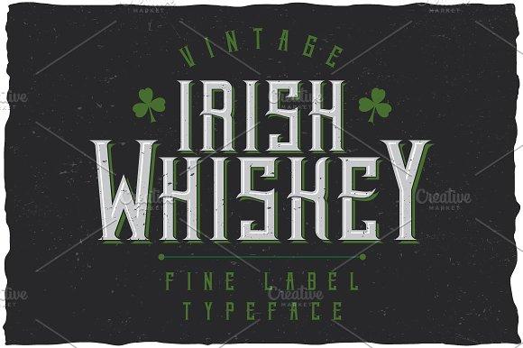 Irish Whiskey Vintage Label Typeface