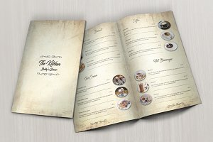 Vintage Food Menu & Business Card